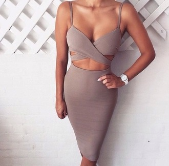 tank top skirt crop tops beige formal dress