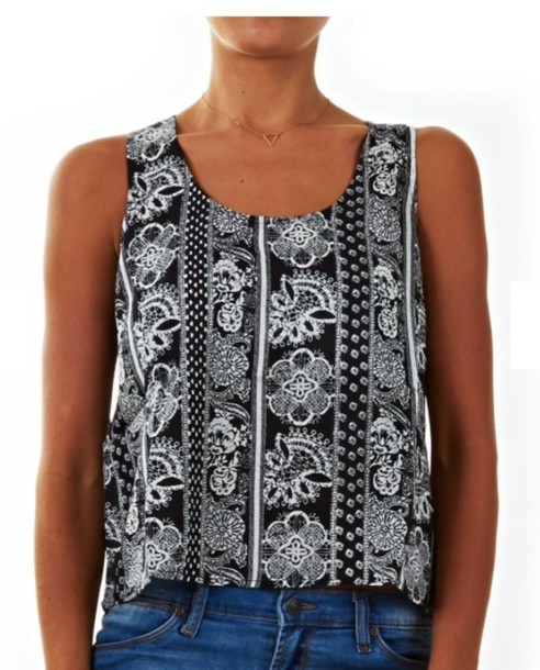 black and white shirt black tank top summer outfits top t shirt print floral floral shirt floral tees jewels