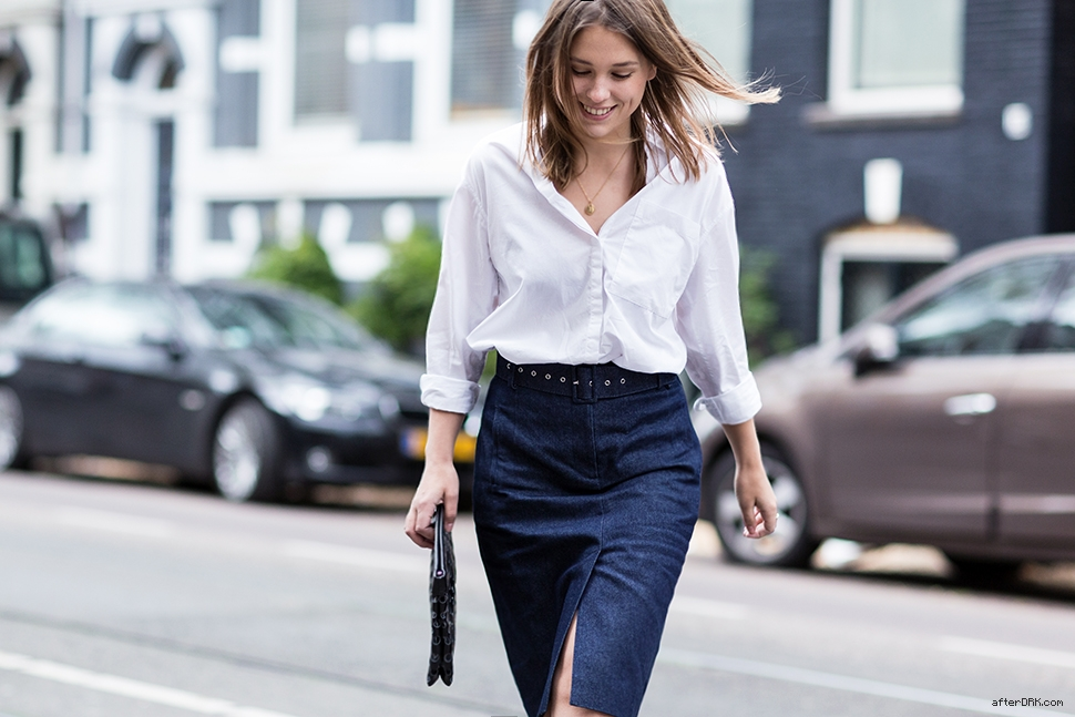 How to wear the white shirt, in three different ways