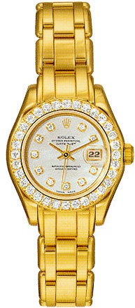 Rolex Oyster Perpetual Lady Datejust Pearlmaster 18kt Yellow Gold Diamond Ladies Watch 802998MDDP
