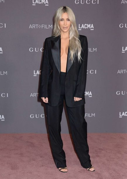 jacket suit kim kardashian black pants kardashians