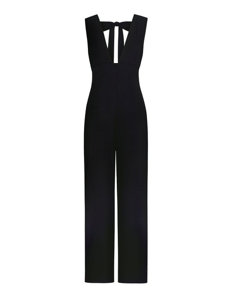 Clark Deep V-neck Jumpsuit Black