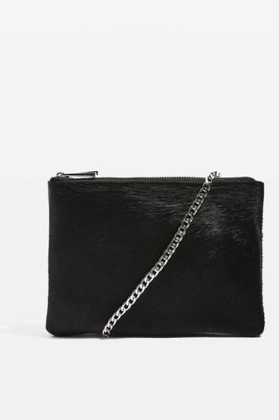 Topshop cross zip bag black