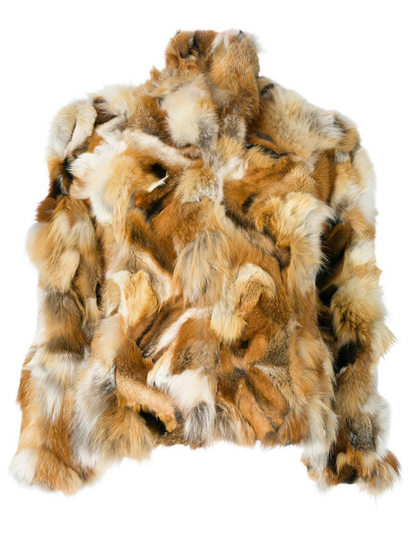 jacket fur fox women nude