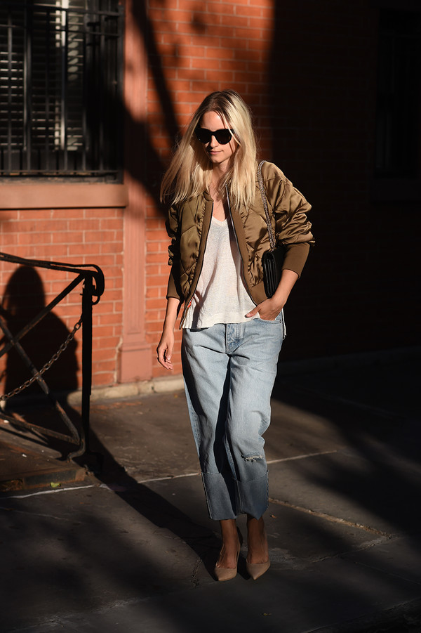the fashion guitar blogger jacket jeans shoes bag sunglasses jewels zara jacket quilted jackets army green jacket bomber jacket satin bomber metallic bomber zara