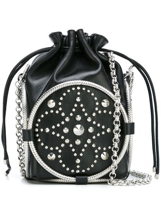 studded women bag crossbody bag black