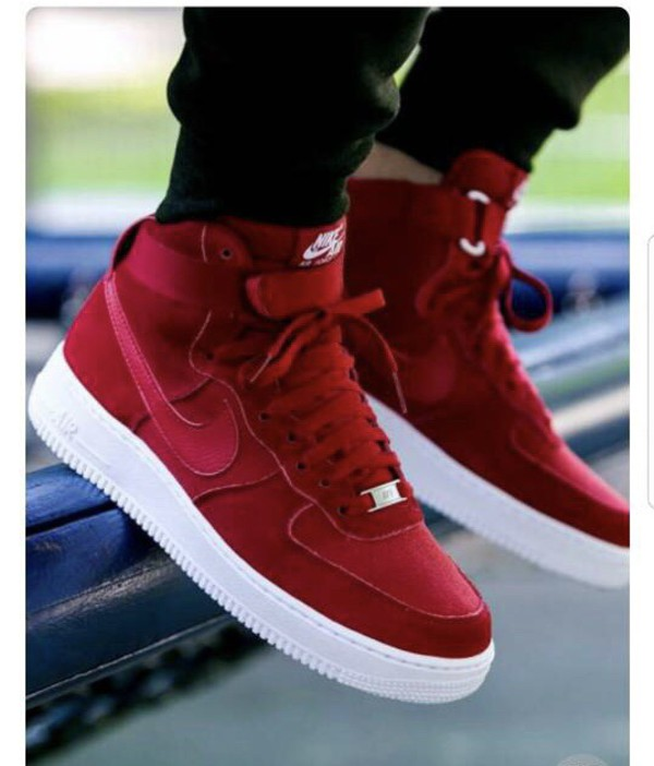 shoes nike nike air force 1 nike shoes red sneakers