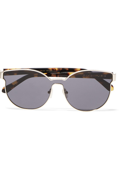 0ddd7aae8ab8 karen walker Karen Walker Star Sailor Square-Frame Gold-Plated and Acetate  Sunglasses