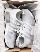 shoes,adidas nmd,grey adidas,adidas