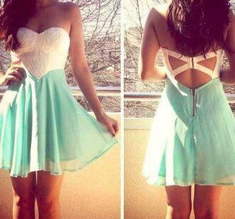 dress clothes shorts white lace top teal  dresss white dress cute cute dress short dress