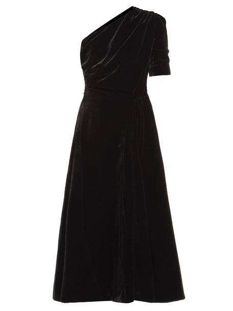 EMILIA WICKSTEAD dress midi dress midi velvet black