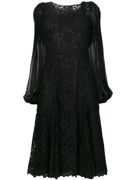 Dolce & Gabbana dress women lace cotton black silk