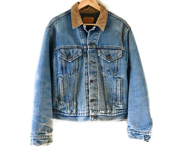Late 80's90's levis denim jacket // size by reunionshop on etsy