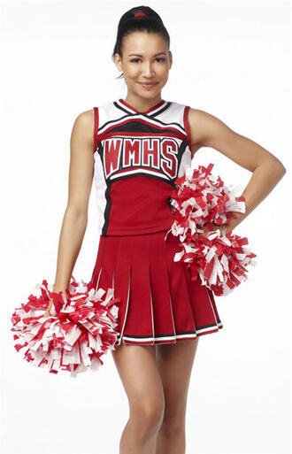 dress glee cheerios cheerleading uniform costume quinn fabray santana lopez