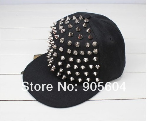 Fashion Designer Unisex Punk Boy Girl Rivets Spike Spiky Canvas Hip hop Hat Baseball Caps Sun Hat-in Apparel & Accessories on Aliexpress.com