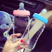 phone cover,water bottle,baby pink