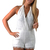 White Jump Suits/Rompers - White Backless Lacy Halter Romper | UsTrendy