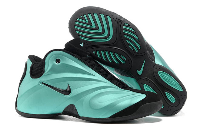 air flightposite nike shoes black and blue sneakers men