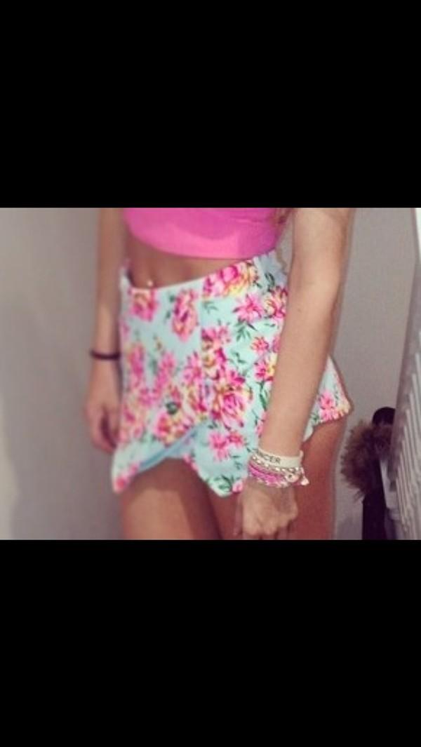 shorts skorts skirt floral