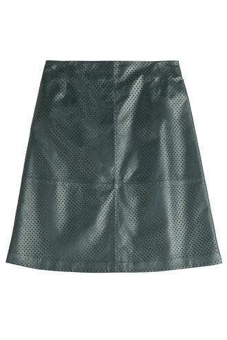 skirt leather skirt leather green