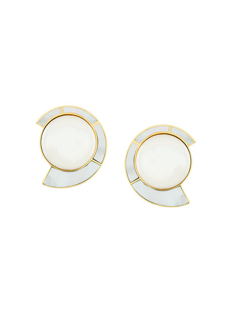 Monica Sordo women baby earrings gold grey jewels