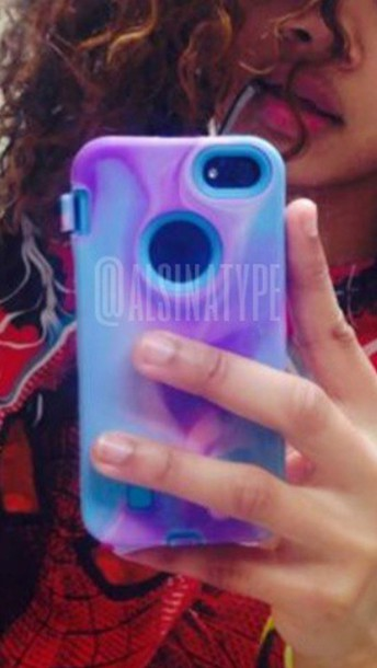 phone cover tie dye purple blue iphone 6 case gel case
