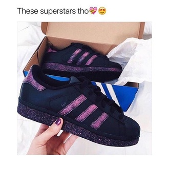 shoes adidas adidas shoes purple black superstar