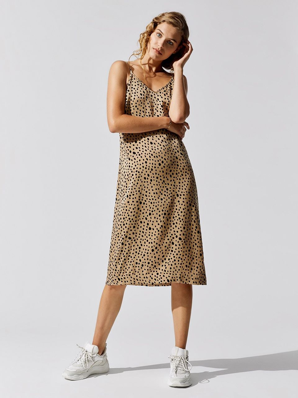 Stateside Leopard Slip Dress