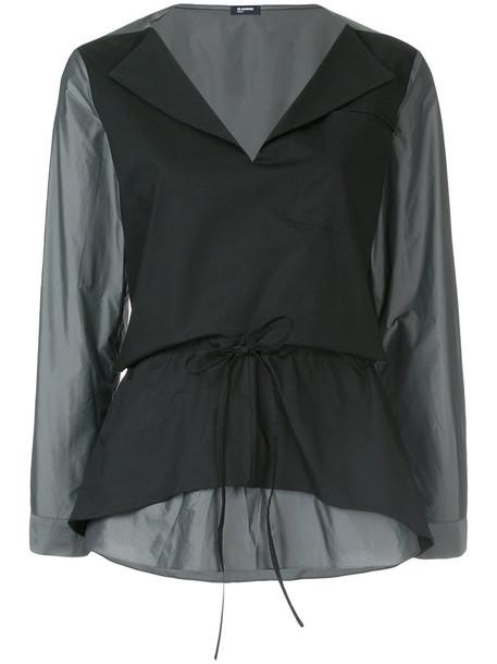 Jil Sander Navy blouse women classic black top