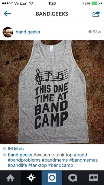 band marching band band camp grey quote on it shirt
