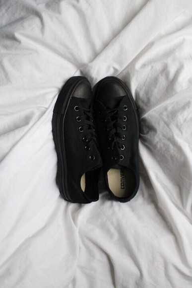 black shoes converse chuck taylor all stars all star converse shoes