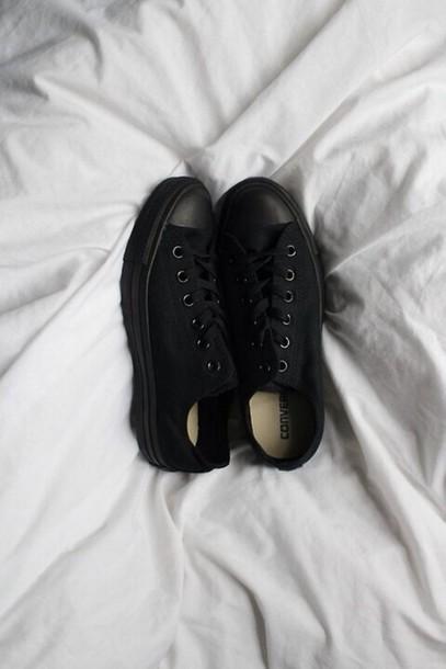 shoes converse black shoes all star converse black convers monochrome shoes