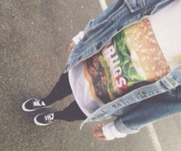 shirt hamburger burger