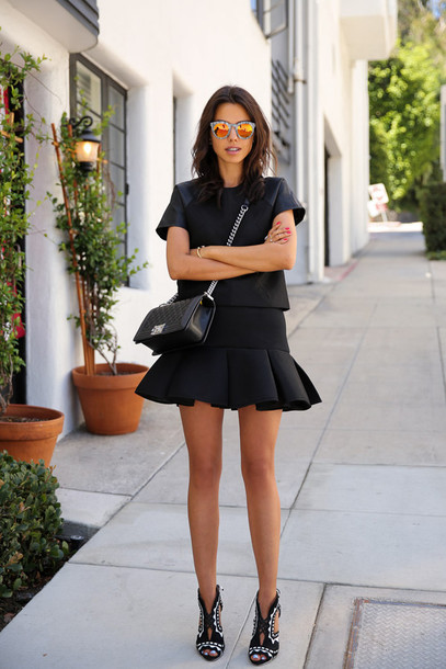 viva luxury blogger shoes top skirt bag jewels