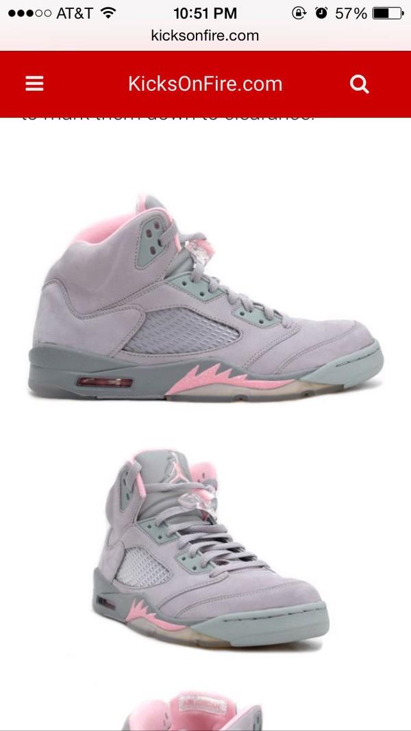 low priced e9b66 8fa68 06 Nike Air Jordan V 5 Retro SILVER WOLF GREY SHY PINK STEALTH ...