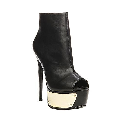 SLOANN BLACK GOLD women's dress high open toe - Steve Madden