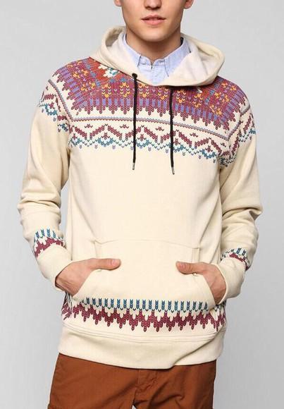 jacket tribal pattern sweater