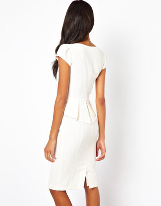 dress pencil dress cream ivory