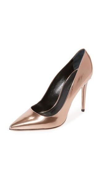 rose gold rose pumps gold shoes