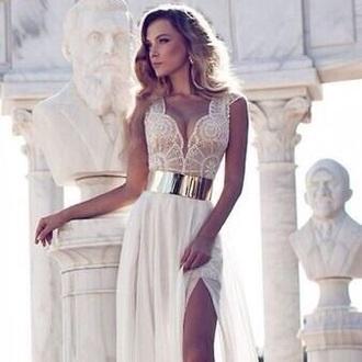 dress cream dress prom dress wedding dress