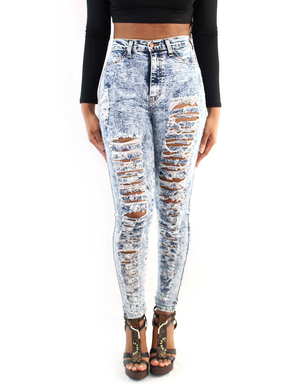Acid wash jeans fashion 41