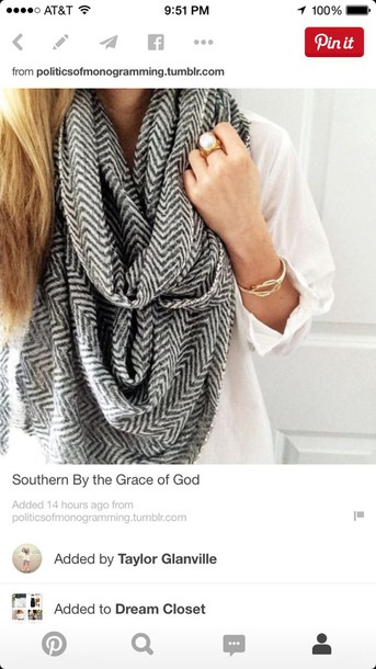 scarf grey chevron