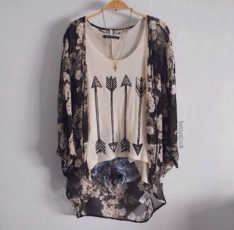 blouse arrow top jacket cardigan