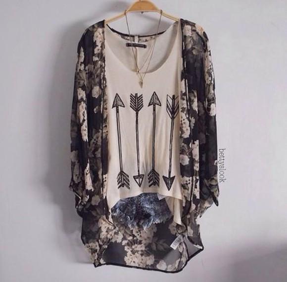 arrow blouse top jacket cardigan