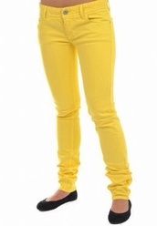 jeans,yellow,yellow jeans