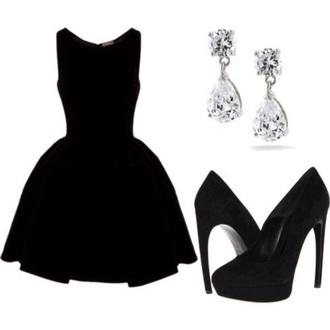 dress black dress poofy dress semi formal dress semi formal