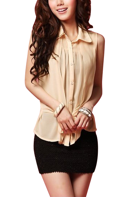 Women's stylish ribbon chiffon blouse online