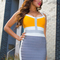 Multi sexy dress - bqueen gray and yellow sexy | ustrendy