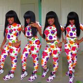 jumpsuit,spandex,flowers,two-piece