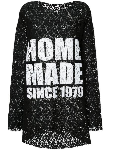Zambesi - oversized lace top - women - Cotton - One Size, Black, Cotton